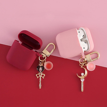 Silicone-Case Diamond Airpods-1 Moon-Cover-Accessories Bluetooth Earphone Apple Luxury