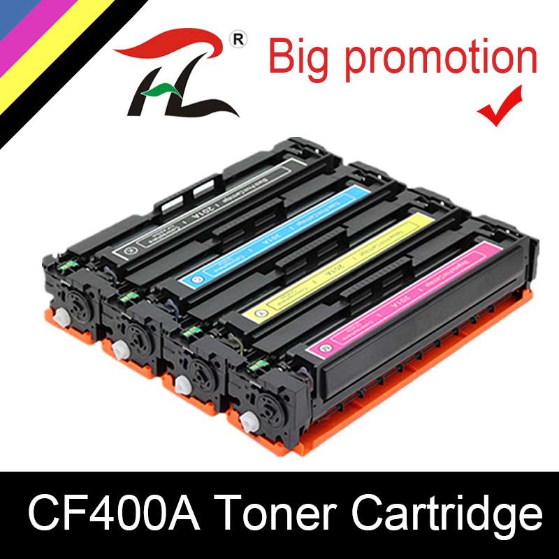 YLC CF400A CF401A 402 403A 201A Compatible Color Toner Cartridge For HP Color LaserJet Pro M252dn M252n MFP M277dw M277n M274n