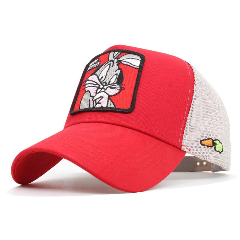 Summer Net Cap Donald Duck Red Bugs Bunny Baseball Cap Sun Shade Cap Dad Hats  Trucker Hat  Hats For Women  Hip Hop  Mens Hats