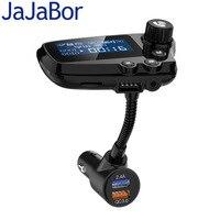 Jababor fm transmissor bluetooth 5.0 kit carro handsfree chamando aux estéreo a2dp grande tela de exibição qc3.0 carga rápida|Transmissores de FM|Automóveis e motos -
