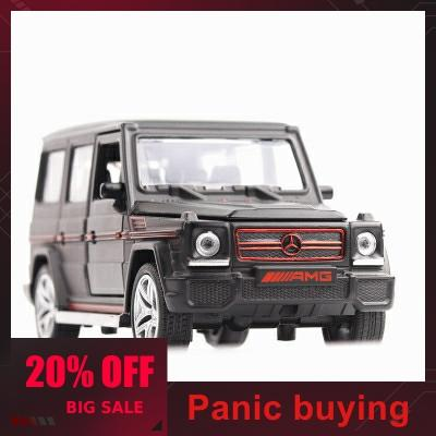 1/32 16cm Melt Simulation Mercedes G 65 AMG Sound And Light Back Black Alloy Toy Vehicle SUV Car Give Children The Best Gift