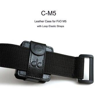Dd C-M5 estojo de couro para fiio m5 music player, com alças elásticas de laço