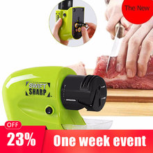 Professional Electric Knife Sharpener Kitchen Multi-function Fast Sharpening Stone Scissors Fruit Knife Sharpener kme knife sharpener professional sharpening knife portable 360 degree rotation fixed angle apex edge knife sharpener with stones