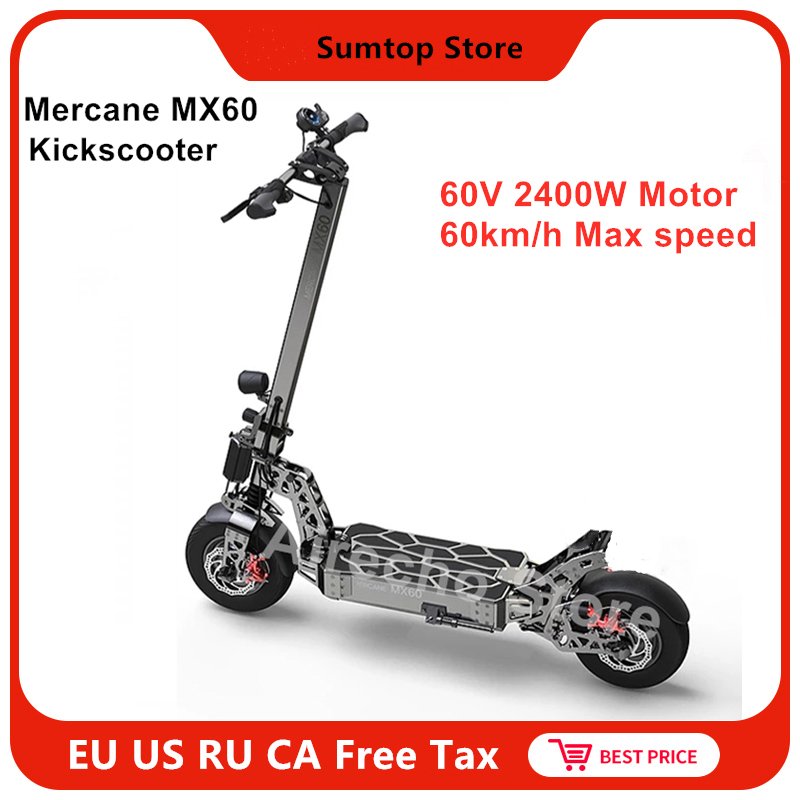 2019 Latest <font><b>Mercane</b></font> <font><b>MX60</b></font> Kickscooter Smart Electric Scooter 2400W 10 / 20AH 60km/h 11