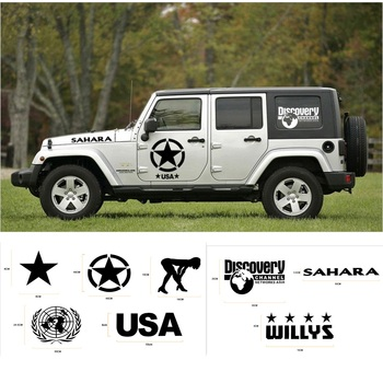 MOPAI Car Body Creative Sticker Whole Body Decal Stickers for Jeep Wrangler/for Ford/KIA/Volkswagen/for Suzuki Car Accessories noizzy 1 set band of brothers ho willys star car auto vinyl reflective sticker decal whole body kit for jeep wrangler cherokee