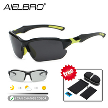 Photochromic Cycling Sunglasses UV400 Polarized Glasses Sun Eyewear MTB Road Bicycle Men Women Bike