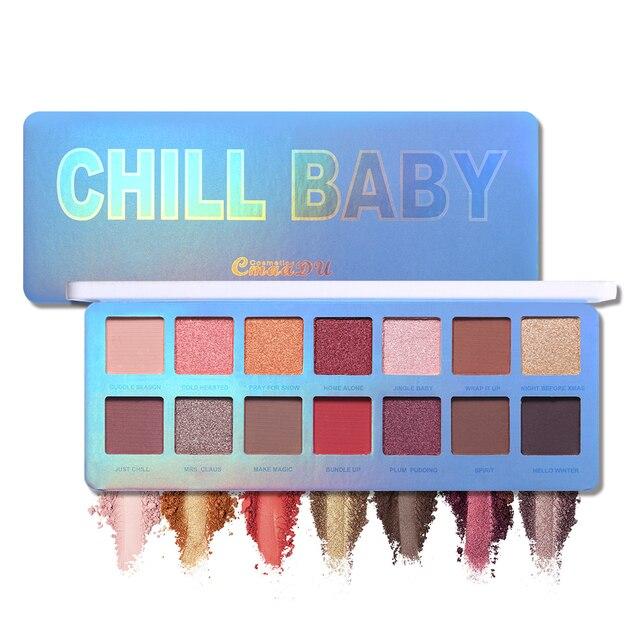 Cmaadu Chill Baby 14 Colors Eyeshadow Makeup Palette Shimmer Matte Nude Shining Waterproof Smoky Eye Shadow Powder Cosmetics