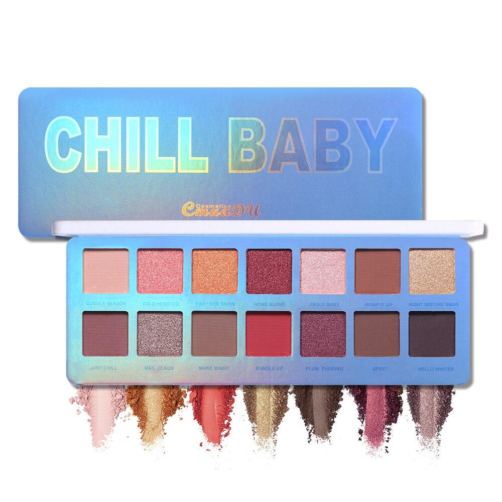 Cmaadu Chill Baby 14 видов цветов Тени для век палитра для макияжа мерцающие матовые блестящие водонепроницаемые дымчатые тени для век косметическая пудра|Тени для век| | - AliExpress