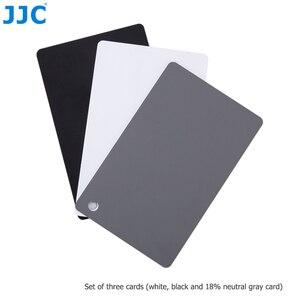 Image 5 - JJC 3in1 Set di carte per bilanciamento del bianco 18% calibrazione della fotografia di carte grigie per Canon Nikon Sony Fuji Pentax DSLR accessori per fotocamere