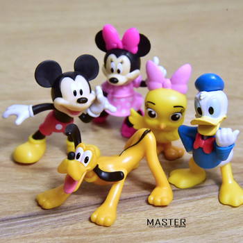 1Set/5PCS 5cm Disney Mickey Minnie maus pluto modell ornamente DIY ornamente sammlung die beste geschenk für kinder