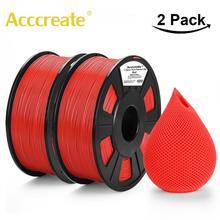 Acccreate 2Pcs/lot 1.75 mm PLA Filament 1kg/pc For Creality Ender 3/5 Pro CR-10S CR-10 Max FDM 3D Printer