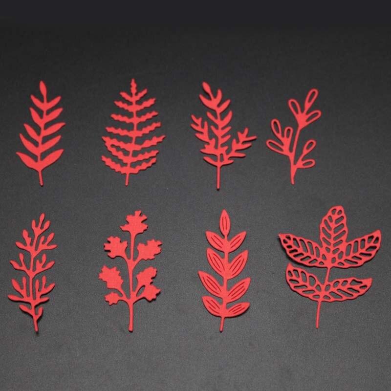 Flower Leaves Metal Cutting Dies Mold Leaf Set Cut Die Scrapbook Embossing Paper Craft Knife Mould Blade Punch Stencils Dies