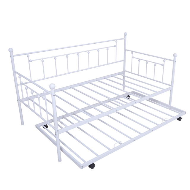 Daybed Sofa Steel Bed Frame With Trundle  2