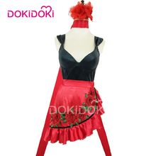DokiDoki League of Legends Game Cosplay Evelynn Agonys Embrace Women Red Sexy Dress Costume