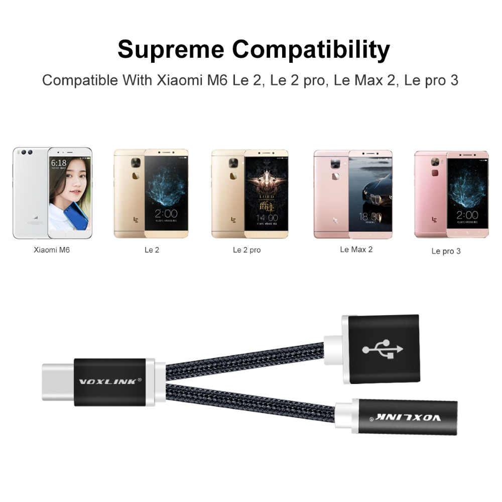 VOXLINK USB-C ケーブル Usb タイプ C に 3.5 ミリメートルオーディオジャックヘッドホンケーブル充電アダプタ Xiaomi Mi6 7 8 三星電子 s8 Huawei 社