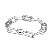 New Me Collection Bracelets Me Link Bracelet Fits Me Collection Dangle Charms 925 Sterling Silver Jewelry Woman Fashion Bracelet