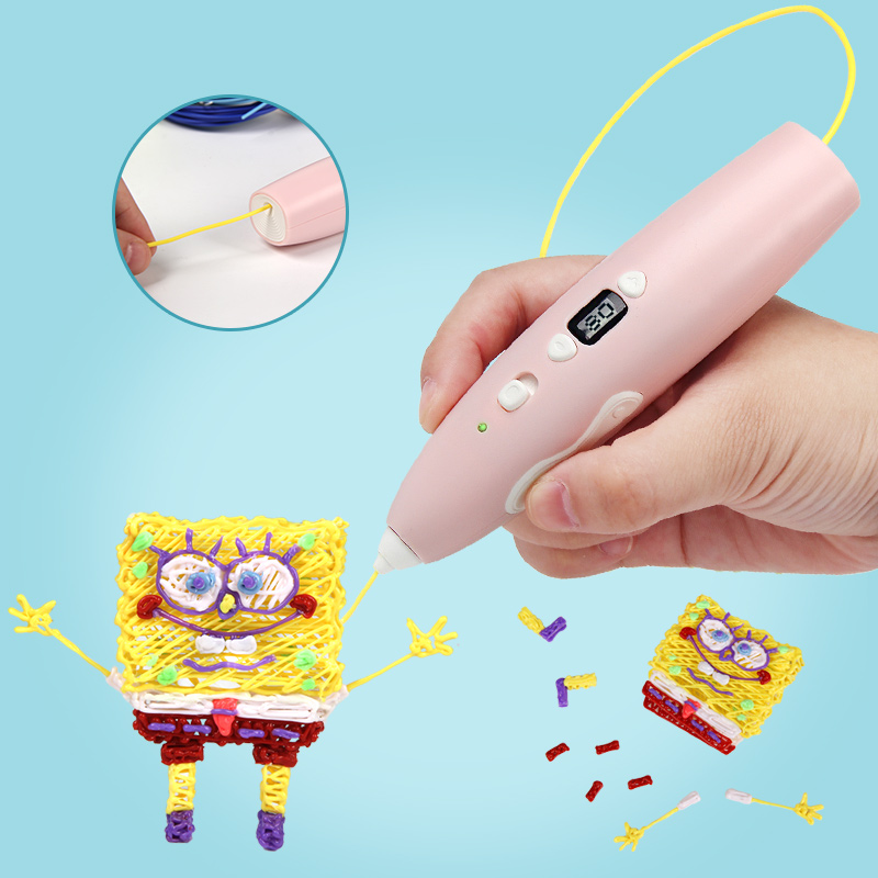 Kids DIY 3D Printing Pen Creative Educational Toys Gift For Boys Girls PCL Filament 1.75mm Hypothermia