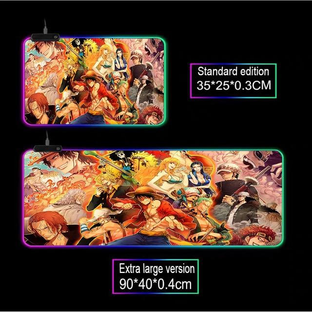 Фото большой коврик для мыши mairuige rgb аниме lockedge цельный