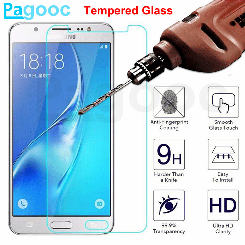 9H Tempered Glass For Samsung Galaxy J5 J3 J7 2016 2017 J8 2018 Screen Protector Protective Glass On Samsung J2 J5 J7 Prime Film
