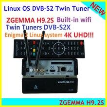 Zgemma H9.2S HEVC H.265 4k UHD 2160P enigenigma 2 Linux IPTV 2000 DMIP twin tunner TV satellitare decoder Reicever
