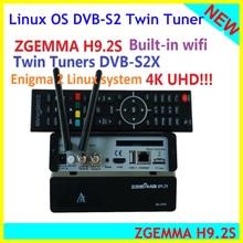 Zgemma H9.2S Hevc H.265 4K Uhd 2160P 2XDVB S2X Enigma 2 Linux Iptv 2000 Dmip Twin Tunner Satelliet Tv reicever Decoder