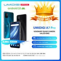 "In Lager UMIDIGI A7 Pro Quad Kamera Android 10 OS 6.3 ""FHD + Volle Bildschirm 64"