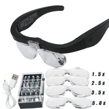Loupes 2,5x 3,5x 5,0x USB rechargeables, pour la lecture bijoutier horloger réparation porter