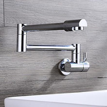 Yi yu brand enter wall type single copper faucet fold used by all the rotate 360 degrees basin faucet in the kitchen(China)