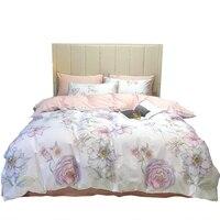 Pink Rose Bed set 2020 new Egyptian cotton bed linen sheet floral satin bedding sets duvet cover girls bedspread queen king size