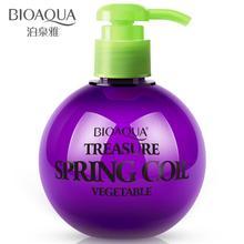 BIOAQUA питательные увлажняющие щипцы для завивки волос увлажняющий удержания защищает волосы кудри прочного стереотипы Волос Стайлинг эластин 250 мл