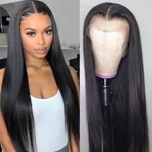 Puromi – perruques brésiliennes non-remy, cheveux naturels lisses, 13x1, 4x1, partie centrale, 10-28 pouces, pre-plucked