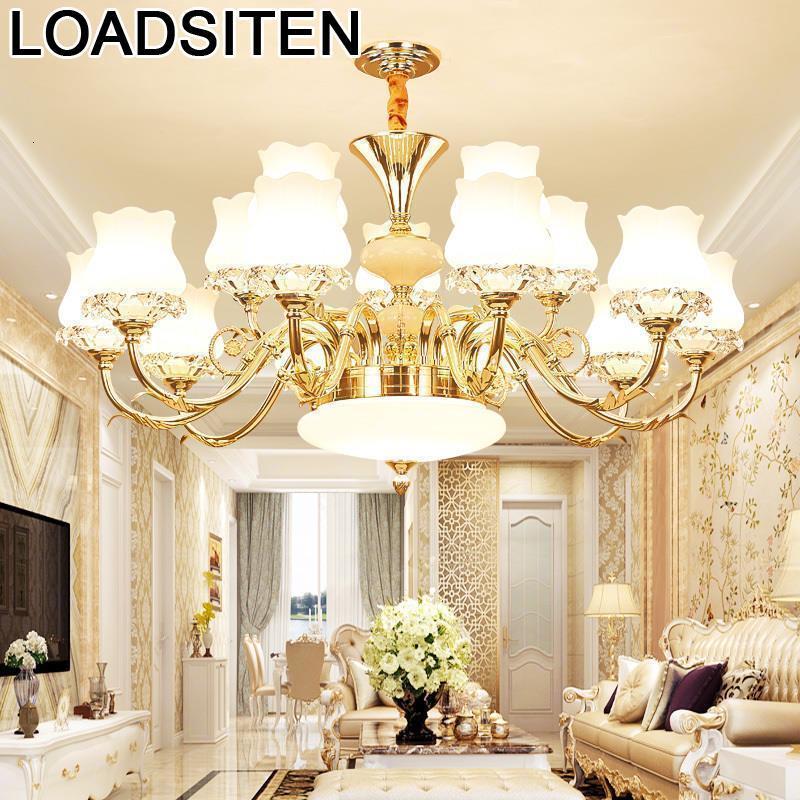 Touw Crystal Pendelleuchte Suspendu Lampara Colgante Suspension Luminaire Lustre E Pendente Para Sala De Jantar Hanging Lamp
