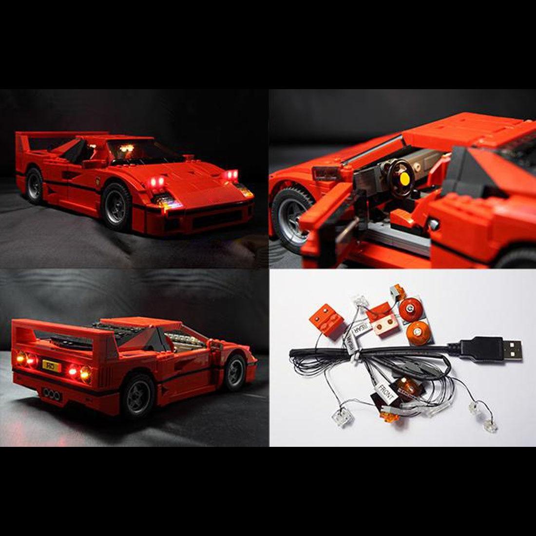 USB Powered LED Light Kit for Lego 10248 Ferrari F40