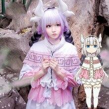 Costumes de Cosplay Dragon de Miss Kobayashi femme de chambre Kanna Kamui chaussures perruques pour femmes Kobayashi san Chi pas d'uniformes de femme de chambre robe Lolita