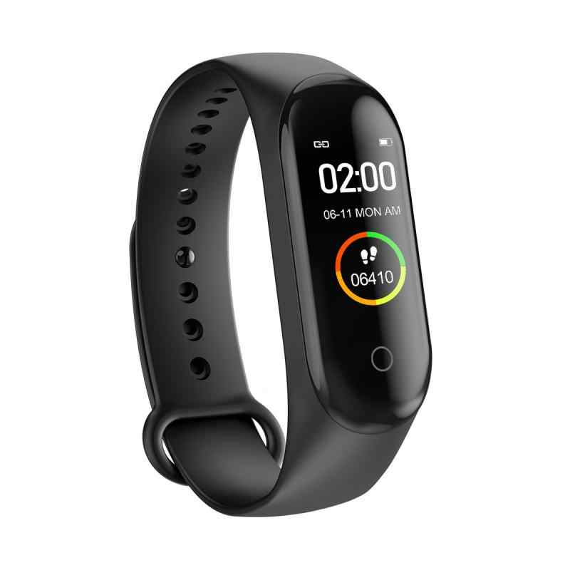 Inseguitore di Fitness M4 Intelligente Banda Sport Astuto Della Vigilanza di Frequenza Cardiaca Monitor di Pressione Sanguigna Salute Wristband Contatore Passeggiata Contapassi