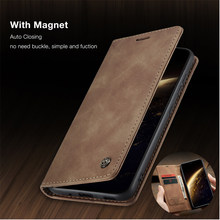 CaseMe Retro Leather Flip Case For Samsung Galaxy S20 Plus S20 UItra Magnetic Wallet Slot Stand For Samsung M30 M20 M10 Cover(China)