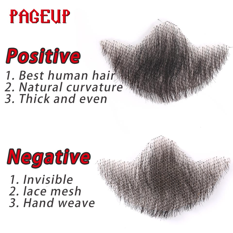 Fake Beard Pageup Nep Lace Beard For Men Mustache Hand Made By Real Hair Barba