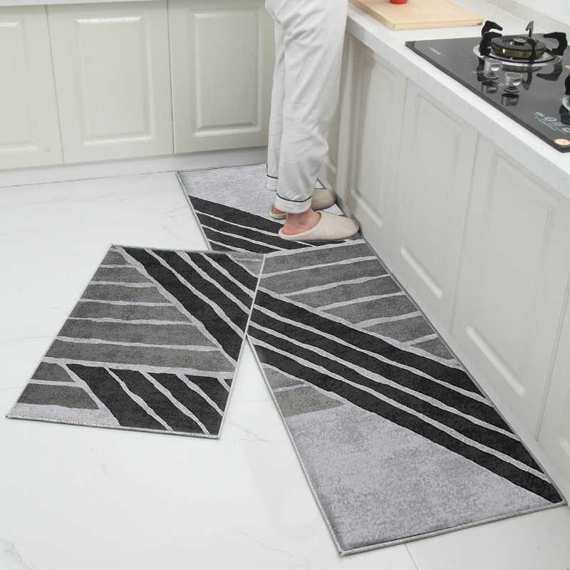 非スリップ人気洗濯機耐久性のある玄関ドアマット浴室カーペットホームデザイナーキッチンマット装飾寝室の敷物