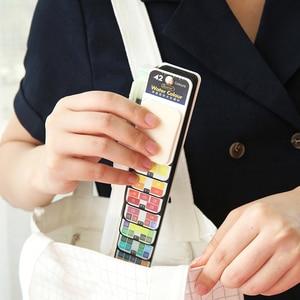 Image 2 - JIANWU ART5 18/25/33/42 farbe Aquarell Malen Set Mit Wasser Pinsel Stift Faltbare Reise Wasser Farbe Künstlerische Malerei Lieferungen
