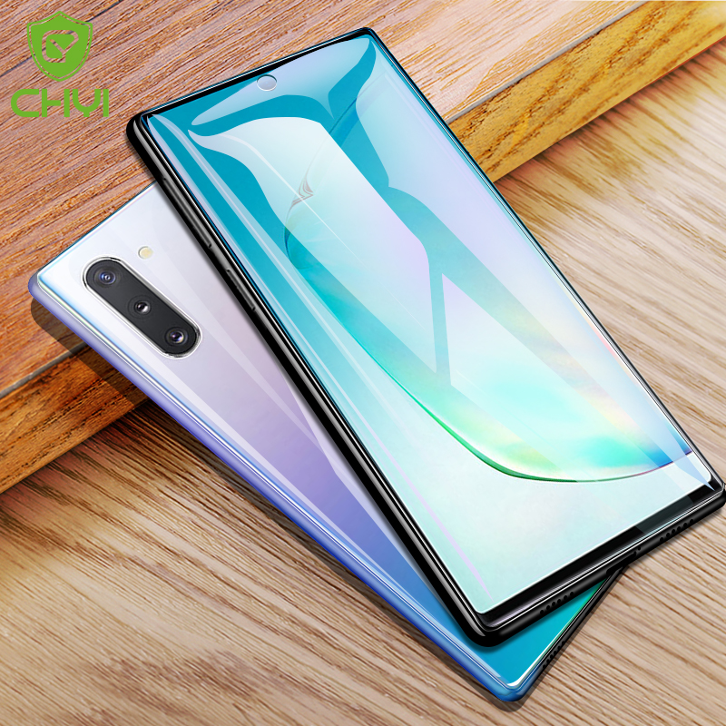 CHYI Curved Fiilm For Samsung S8 S9 S10 Screen Protector S10 Plus  S7edge Film For Note 10 Plus 5G Screen Protector Not Glass