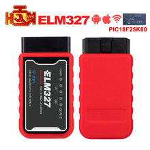 MINI ELM327 WiFi/Bluetooth V1.5 PIC18F25K80 Chip OBDII Diagnostic Tool IPhone/Android/PC ELM 327 V 1.5 Auto Scanner Code Reader