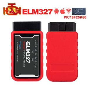 Image 1 - MINI ELM327 WiFi/Bluetooth V1.5 PIC18F25K80 Chip OBDII Diagnostic Tool IPhone/Android/PC ELM 327 V 1.5 Auto Scanner Code Reader
