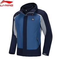 Li Ning Men Outdoor 3 in 1 Sports Windbreaker + Fleece Sweater 2 pieces AT PROOF SMART li ning LiNing Sport Coats AWBP015 MWF411