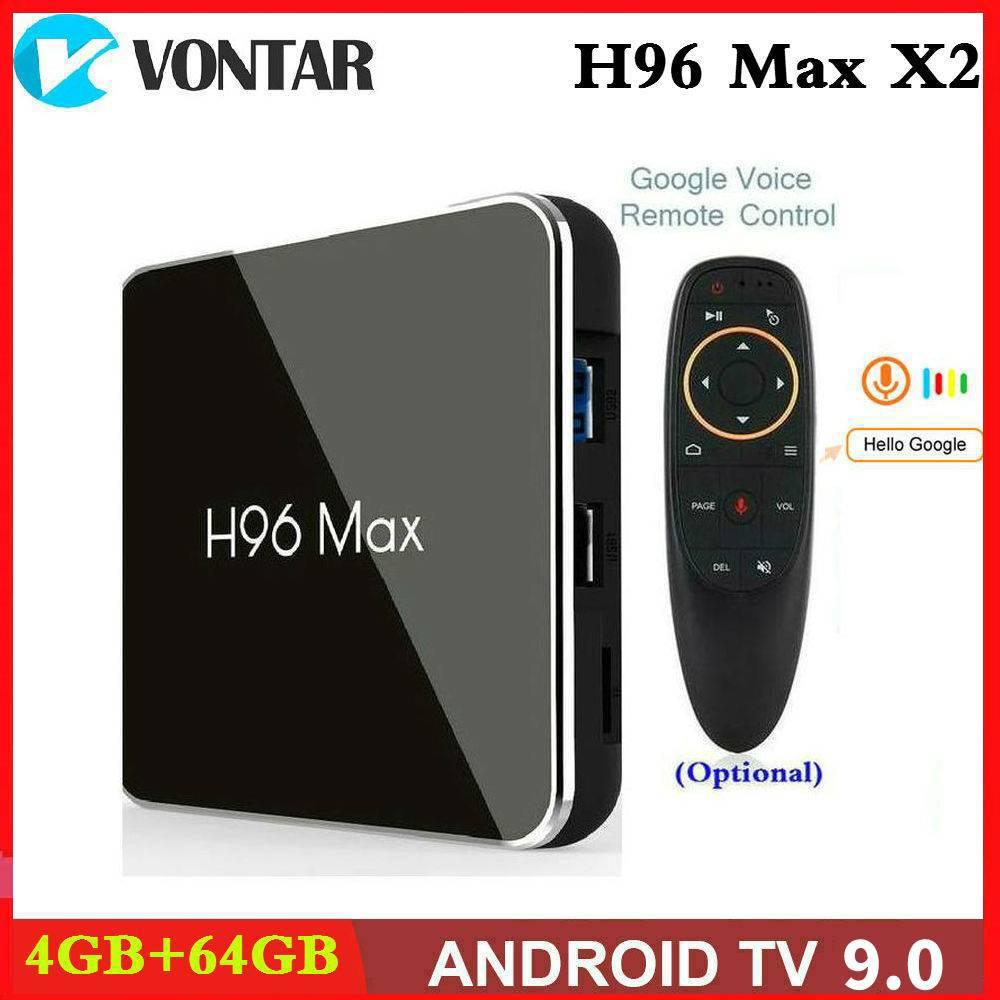 Amlogic S905X2 Smart TV BOX Android 9.0 H96 MAX X2 4K Media Player Google Play 2.4G&5G Wifi 4GB RAM 64GB ROM H96MAX 2G16G 4G32G