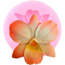 Gumpaste Moulds Fondant-Mold Orchid Candy Clay Sugarcraft Flower Silicone Cake-Decorating-Tools