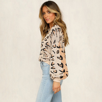 BACKFLY Leopard Print Women Pullover Sweaters Autumn Winter Female New Casual Primer Shirt Jumper Sweaters Streetwear Clothing