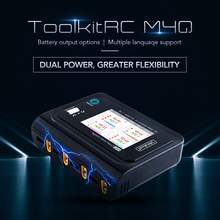 In Stock ToolkitRC M4Q 4x50W 5A AC 100W 4 Port DC XT60/XT30 Optional Smart Charge 32 Bit ARM IPS Bright Clear Wide Angle Display