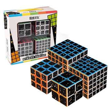 4pcs Splash Gold Cube 2x2 Set 3x3 4x4 5x5 Magic Cube 3x3x3 Speed Cube Game Sticker Puzzle Children Toys For Gift Box 1