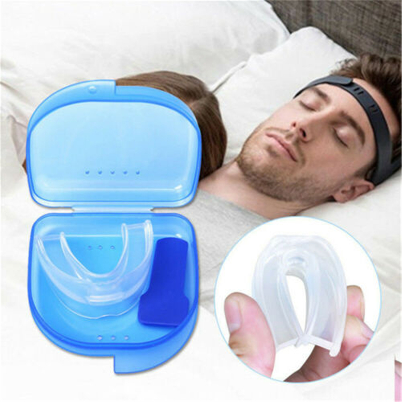 Stop Snoring Mouthpiece Apnea Aid Sleep Bruxism Anti-Snore Stop Grind MouthGuard Silicone Personal Health Care With Box Set
