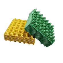 10 pcs Farm Egg Tray 288*288*48mm Egg Tray Transportation And Storage Of Eggs Recycling Plastic Material Egg Trough Depth 36mm